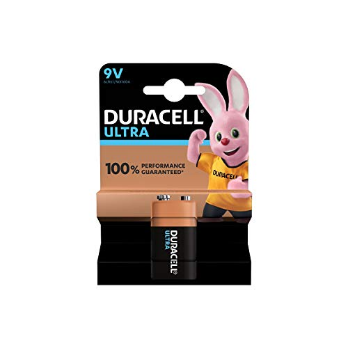"""Duracell Ultra Power Piles Alcaline type 9V, Lot de 1"" de Duracell"