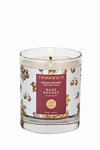 "Durance, Bougie naturelle parfumée 180g ""Baies rouges"" de DURANCE"