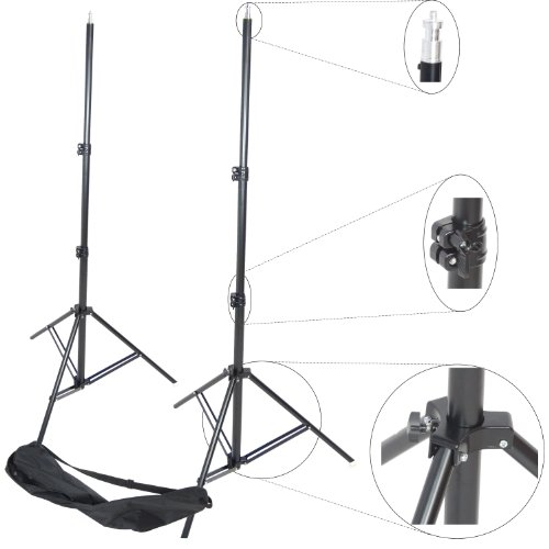 Kit Trépied pour Studio DynaSun 2X W957 250cm Support de Fond Pied Photo Video Tres Robuste avec Sac de DynaSun