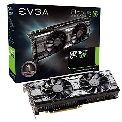 EVGA GeForce GTX 1070 Ti SC GAMING ACX 3.0 Black Edition, 8GB GDDR5, EVGA OCX Scanner OC, White LED, DX12OSD Support (PXOC) Carte Graphique 08G-P4-5671-KR de EVGA