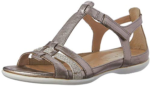Ecco Flash, Sandales Compensées femme, Gris (57462Warm Grey Metallic/Moon Rock), 40 EU de Ecco