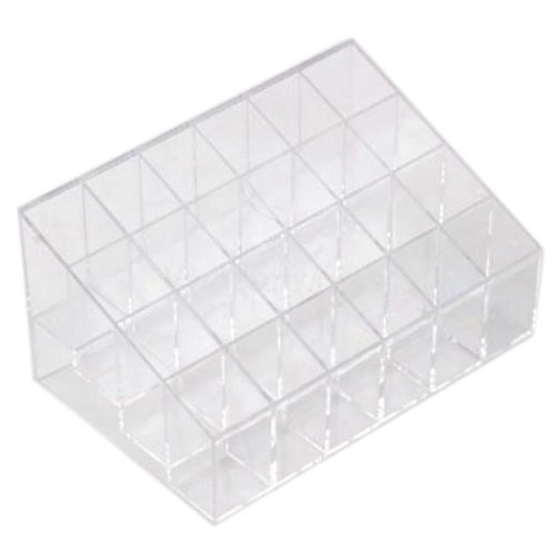 Eforcase 24 Frame 4x6 Clear Lipstick Cosmetic Stand 24 Lipstick Cosmetics Display Shelf Nail Polish Organizer Makeup Cosmetic Display Holder Cases Bags Storage by Eforcase de Eforcase