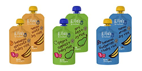 Ella's Kitchen Mixed Case Selections Stage 1, 2, 3 & Smoothie (Baby Rice (6x100g)) de Ella's Kitchen