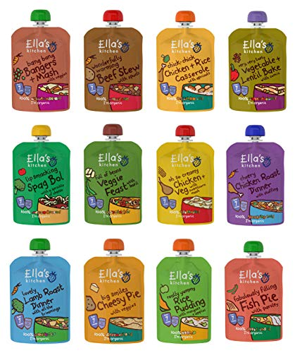 Ella's Kitchen Mixed Case Selections Stage 1, 2, 3 & Smoothie (Stage 2 (12x130g)) de Ella's Kitchen