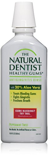 The Natural Dentist Moisturizing Healthy Gums Antigingivitis Rinse, Peppermint Twist 16.90 oz by Natural Dentist de Natural Dentist