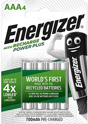 Piles AAA rechargeables Energizer Recharge Power Plus, pack de 4 de Energizer