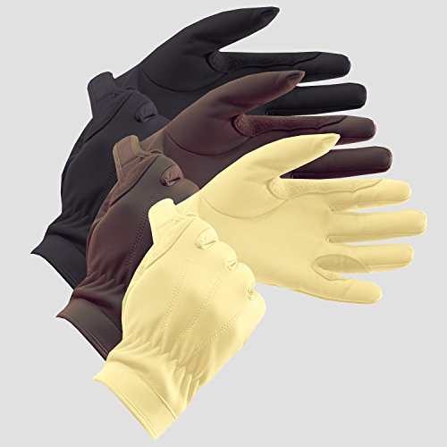 Equetech en cuir Show gloves-brown-9 de Equetech