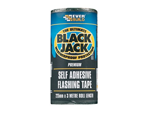 Everbuild evbflas075 75 mm x 10 m Noir Jack Flash Commerce Colle de Fixation P, FLAS300-EBD de Everbuild