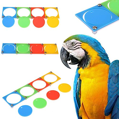 Everpert Bird jouet à mâcher pour perroquet Pet Parrot Acrylique Toys Cognize train Intellectuelle Couleur séparé Bird jouet de Everpert