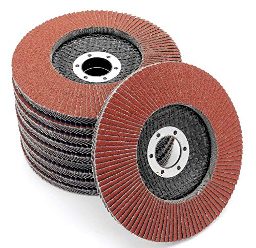 Lot de 10 compartiments Disques 125 mm Grain 80 à lamelles Marron ponçage Mop Assiettes Disque abrasif à lamelles de FD-Workstuff®
