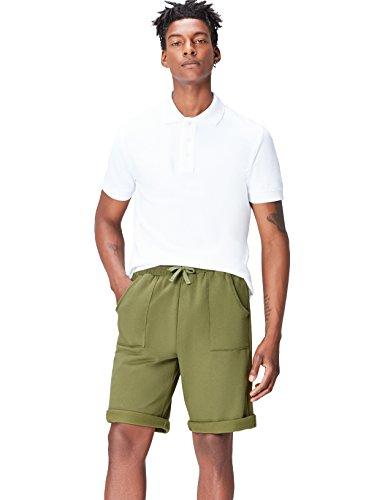 Activewear Fleece Lounge, Short Homme, Vert olive,L de Activewear