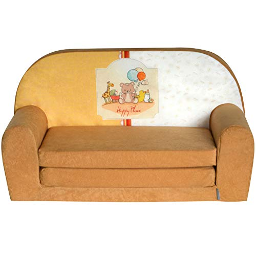 Mini-canapé sofa enfant Fortisline motif Happy Place W386_01 de FORTISLINE
