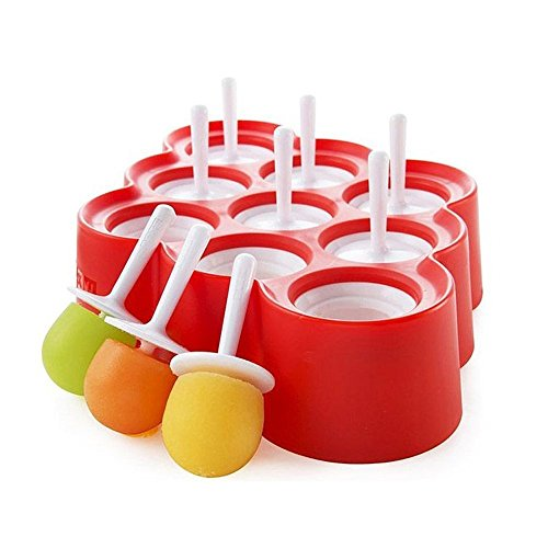 """FPBS 9 x Mini Silicone Ice Cream Moulds Popsicle Molds - BPA-free Ice Pop / Stick Ice Cream / Lolly Maker Tool Set, Wonderful Tools for Party by FPBS"" de FPBS"