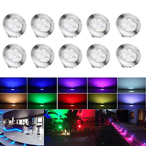 Fvtled 10x spot led eclairage ext rieur encastrable sol for Spot led exterieur terrasse