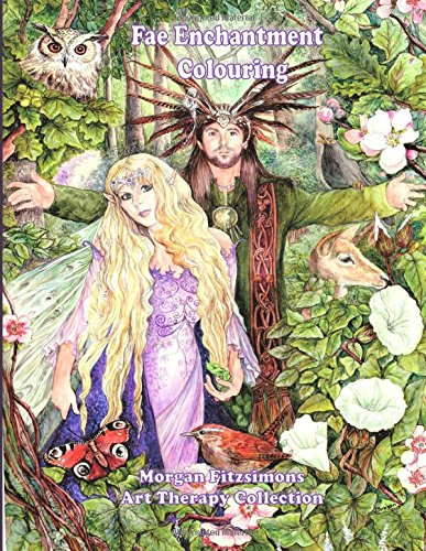 Fae Enchantment Colouring Book: Art Therapy Collection - 2nd Edition de Fae Entertainment and Fae Workshop