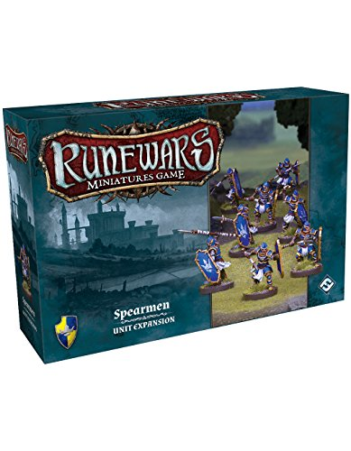 Fantasy Flight Games Ffgrwm07 Runewars Miniatures Jeu Spearmen Pack d'extension de Fantasy Flight Games
