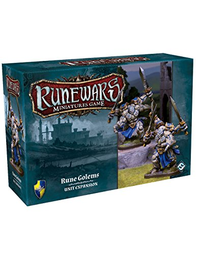 Fantasy Flight Games Ffgrwm04 Runewars Miniatures Jeu Rune Golems Pack d'extension de Fantasy Flight Games
