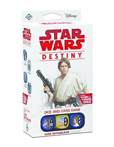 Fantasy Flight Games Ffgswd10 Star Wars Luke Skywalker Destiny Starter Set de Jeu de Fantasy Flight Games