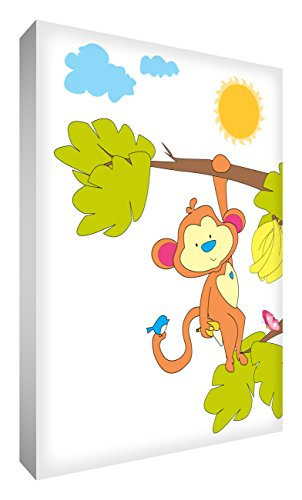 Feel Good Art Bloc Décoratif Singe Effronté Se Balançant dans Son Arbre 10,5 X 7,4 X 2 cm de Feel Good Art