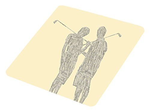 Feel Good Art brillant Verre au design golf Typographie moderne couple (Crème) de Feel Good Art