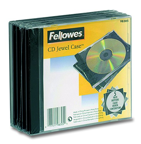 Fellowes CD Jewel Etui 5pk - Housse (noir, transparent) de Fellowes