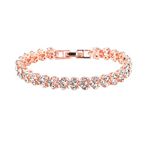 FENICAL Bracelets Full Strass Bijoux Roman Bracelets Charms (Or Rose) de Fenical