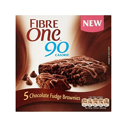 Une Fibre Fudge Au Chocolat Brownie 120G - Paquet de 2 de Fibre One
