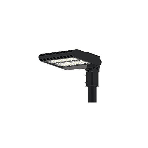 FILUX area light SMD Lumileds/inventronics Timer Lampadaire LED asymétrique, 50 W, noir, 487 x 321 x 89.6 mm de Filux