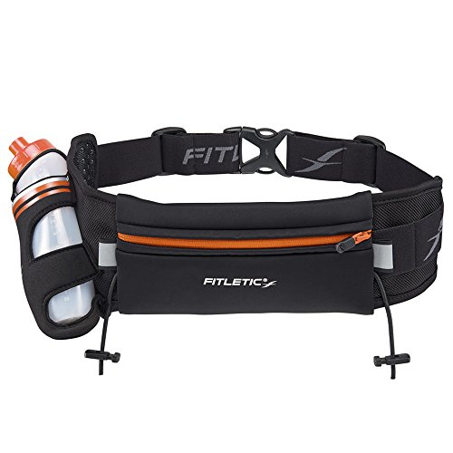 Fitletic HD12 Ceinture hydratation Mixte Adulte, Noir/Orange, 360 ML de Fitletic