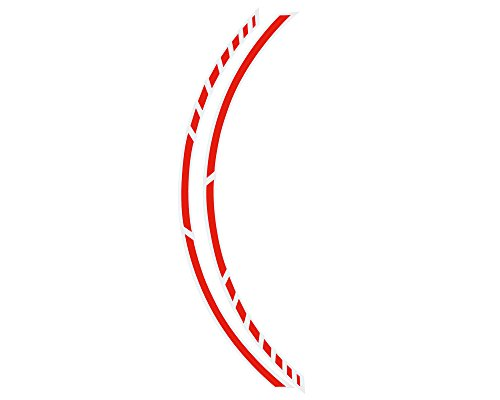 Foliatec FO34446 Pin Striping Racing Stripes Neon Red 14 A '7 mm x 41 cm, inklusive Spacer, 14x 41 cm de Foliatec