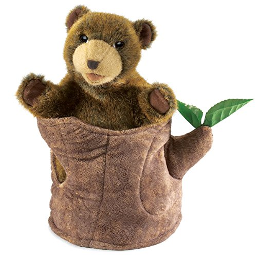 Bear in Tree Stump Puppet de Folkmanis