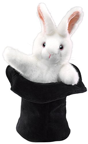 Rabbit in Hat Puppet de Folkmanis