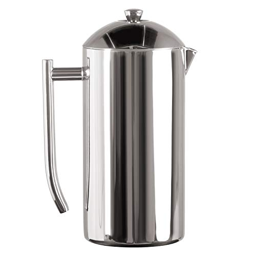 Frieling 0104 French Press Cafetière à piston acier inoxydable poli à double paroi 36 fl.oz. 1065 ml de Frieling