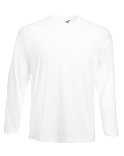 """Fruit of the Loom - T Shirt à Manches Longues - Blanc, L - 42/44"" de Fruit of the Loom"