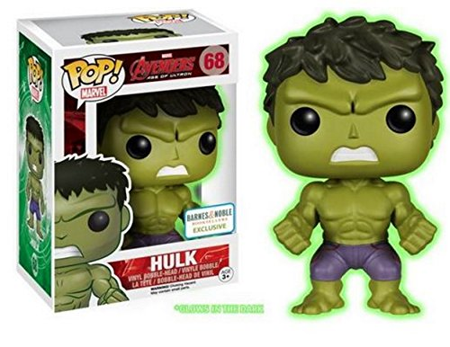 Funko - Figurine Marvel Avengers Age of Ultron - Hulk Glow in the Dark Exclu Pop 10cm - 0849803053314 de FunKo
