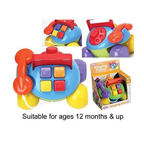 FunTime Pull Along Ringing Phone Baby Toddler Activity Learning Toy 12 months+ de Funtime