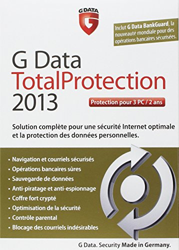 G Data total protection 2013 (3 postes, 2 ans) de G Data Software