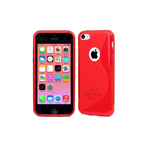 Posh Style Apple Iphone 5 5G 5S Red Silicone Gel S Line Grip Case Cover For Apple Iphone 5 5G 5S By G4GADGET® de G4GADGET®