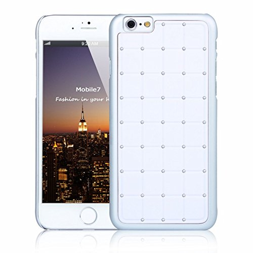 Posh Style Apple Iphone 6 LUXURY CRYSTAL Cross Diamond White Case Bling Hard Cover with White Frame For Apple Iphone 6 By G4GADGET® de G4GADGET®