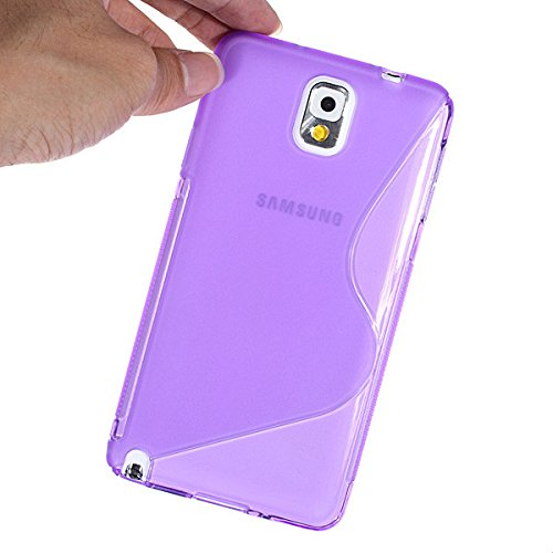 Posh Style Samsung Glaxay Note 3 Purple Silicone Gel S Line Grip Case Cover For Samsung Glaxay Note 3 By G4GADGET® de G4GADGET®