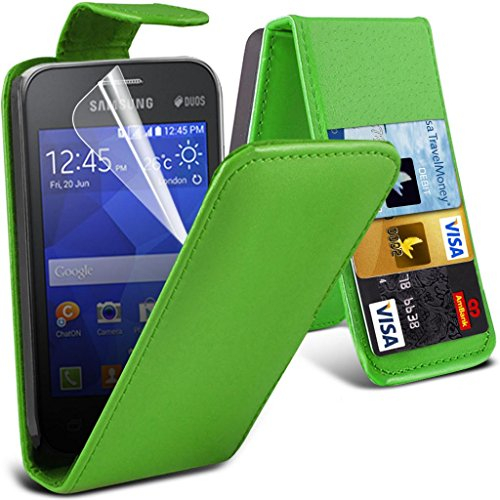 Slim Style Samsung Note 4 Green Flip Wallet Synthetic Leather Case Cover with Two Card slots For Samsung Note 4 by G4GADGET® de G4GADGET®