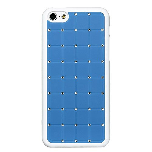 Value Pack Iphone 4 / 4S CRISTAL DE LUXE Croix Case Hard Cover Bling Diamant Bleu avec cadre blanc pour Apple iPhone 4 / 4S de G4GADGET®