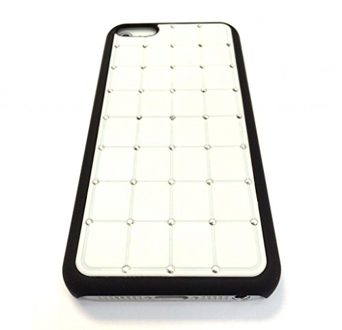 Value Pack Iphone 4 / 4S CRISTAL DE LUXE Croix Diamond White Case Hard Cover Bling avec cadre noir pour Apple iPhone 4 / 4S de G4GADGET®