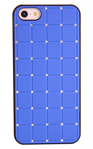 Value Pack Iphone 5 / 5s CRISTAL DE LUXE Croix Case Hard Cover Bling Diamant Bleu avec cadre noir pour Apple iPhone 5 / 5s de G4GADGET®