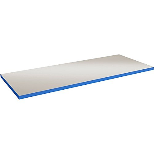 GBP Ergonomics 41–743–0001 massive Table Plaques, PVC, gris avec bord de table bleue, dimensions 1500 x 800 x 40 mm de GBP Ergonomics