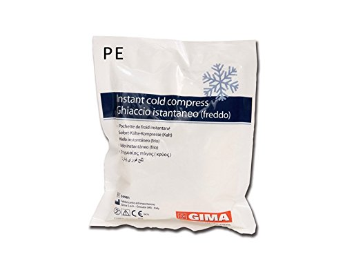 GIMA 34111 Instant Ice Bag, PE bag, Box of 25 de GIMA