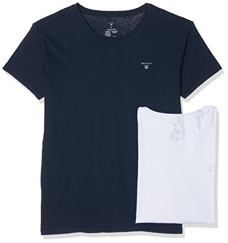 """GANT 2-Pack Basic, T-Shirt Homme, Multicolore (Navy/White), Small (lot de 2)"" de Gant"