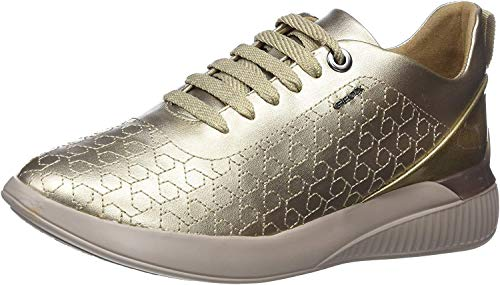 37b2af393f5ab1 Geox D D Theragon C C, Sneakers Basses Femme, Or (Champagne Cb500), 38