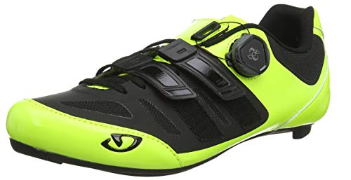 Giro Sentrie Techlace Road, Chaussures de Vélo de Route Homme, Multicolore (Highlight Yellow/Bla 000), 44.5 EU de Giro