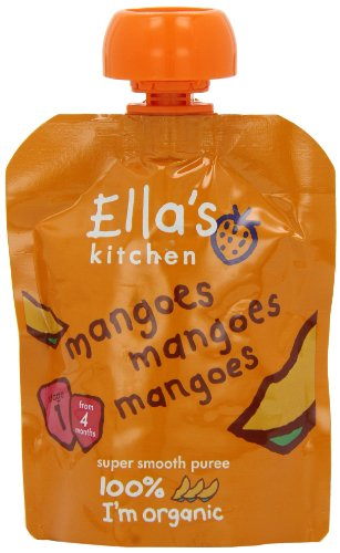 Ella's Kitchen Stage 1 From 4 Months - Mangoes 70 g (Pack of 7) de Ella's Kitchen